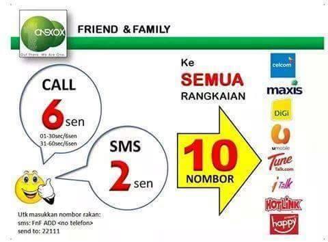 PENJIMATAN DENGAN 10 NOMBOR RAKAN DAN FAMILI (SEMUA TALIAN)
